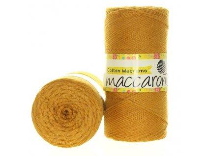 Cotton macrame 2mm - 40 hořčicová