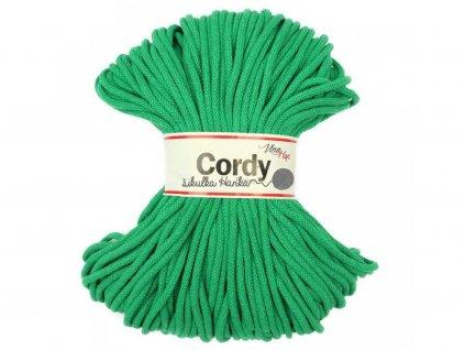 Cordy šňůry - trávově zelená