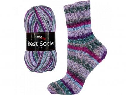 Příze Best socks 7008 sv.modrá-aqua