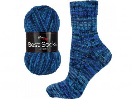 Příze Best socks 7009 modro-světlá