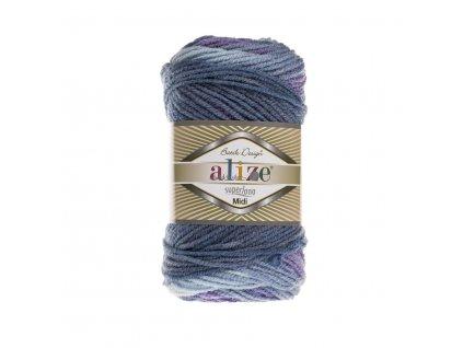 Superlana midi batik 3299 fialovo-modrá