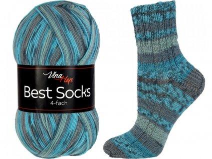 Příze Best socks 7309 modrá