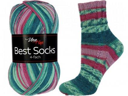 Příze Best socks 7315 zeleno-fuchsiová