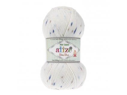 Baby best minicolors 6842 bílá modro-hnědá