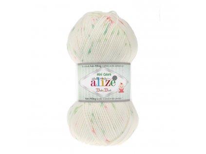 Baby best minicolors 6932 krémová-růžovo-zelená