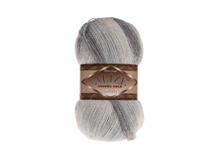 Angora gold simli batik 6959 šedý melír