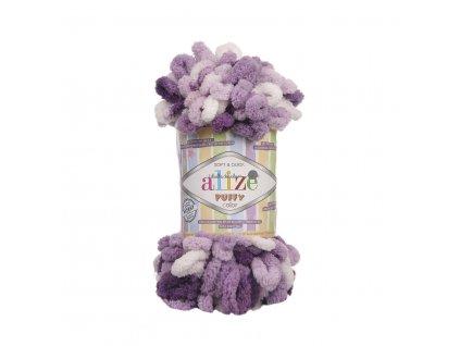 Puffy color 5923 fialovo-bílá