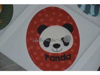Nažehlovačka ovál panda(71980/3)