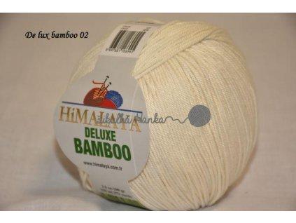 Příze De lux bamboo 02 smetanová š.3935