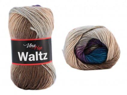 Waltz 5702 fialovo-tyrkysovo-hnědá