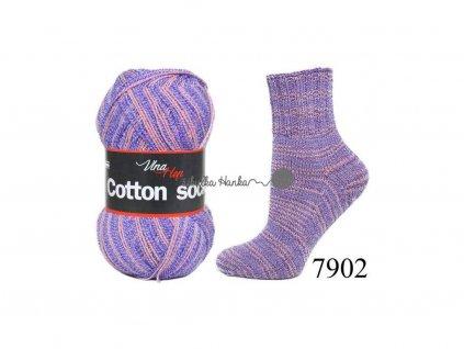 Příze Cotton socks 7902 fialová