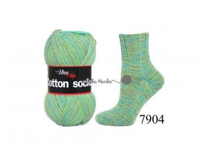 Příze Cotton socks 7904 zelená