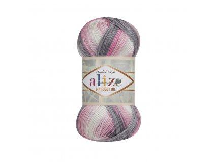 Bamboo fine batik 3245 růžovo-šedo-bílá