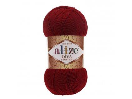 Alize Diva stretch 57 vínová