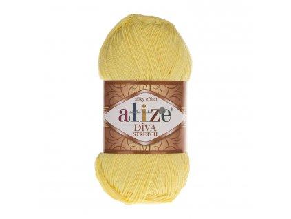 Alize Diva stretch 643 sv.žlutá