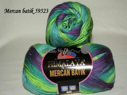 Mercan batik 59523 zeleno-fialová