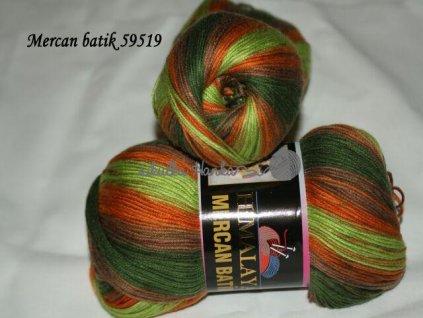 Mercan batik 59519 zeleno-oranžová