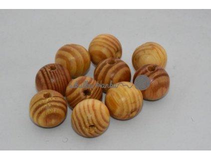 Dřevěné korále 20mm - buk