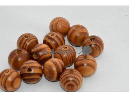 Dřevěné korále 20mm - dub červený