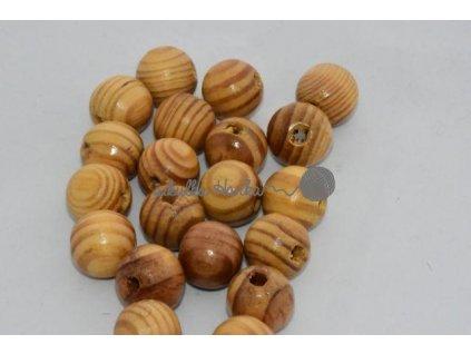 Dřevěné korále 16mm - buk lakované