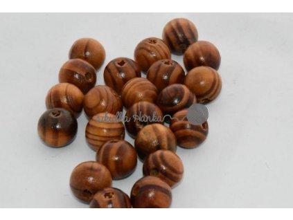 Dřevěné korále 16mm - dub lakované