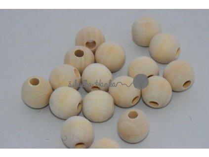 Dřevěné korále 18mm - bříze nelakované