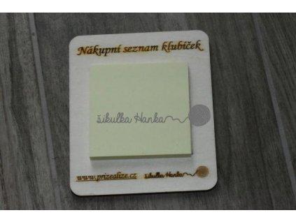 Magnetka - Nákupní seznam klubíček s logem