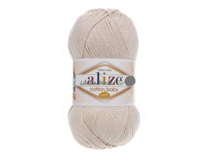 Cotton baby soft 67 světlá béžová