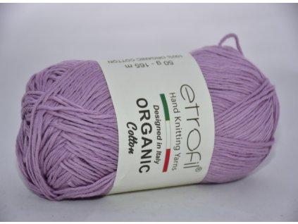 Organic cotton světlá lila EB002