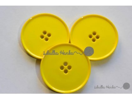 Knoflík 38mm žlutá
