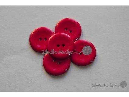 Knoflík 20mm červená