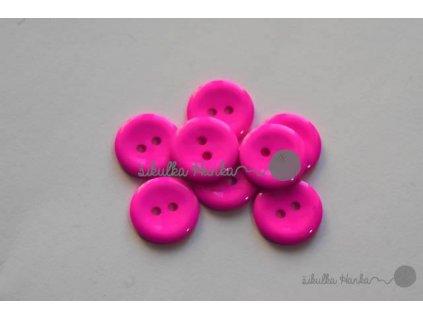 Knoflík 15mm zářivá růžová II.jak