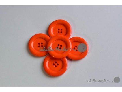 Knoflík 22mm oranžová
