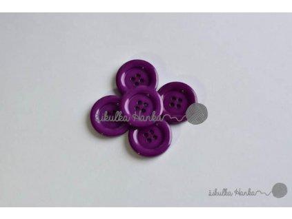Knoflík 22mm fialová