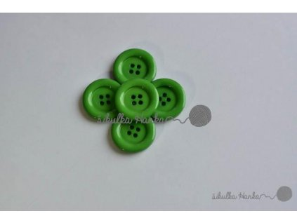 Knoflík 22mm zelená