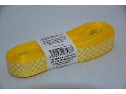Stuha plátnová 1000 žluto-bílá