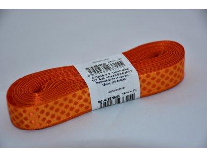 Stuha plátnová 2617 oranžovo-oranžová