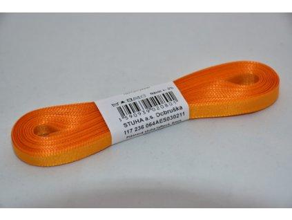 Stuha taftová 6mm 211 oranžová