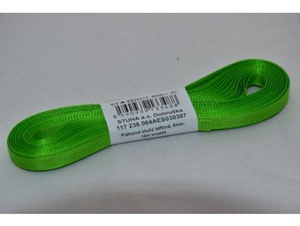 Stuha taftová 6mm 307 jarní zelená
