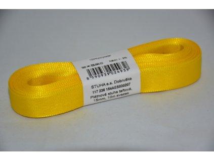 Stuha taftová 15mm 207 žlutá