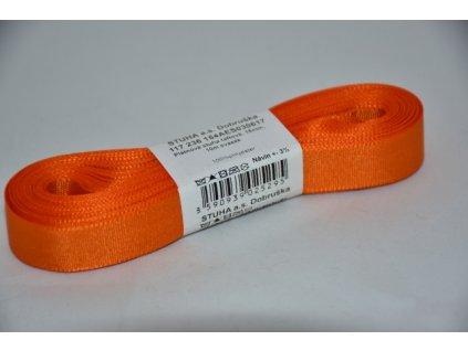 Stuha taftová 15mm 617 oranžová