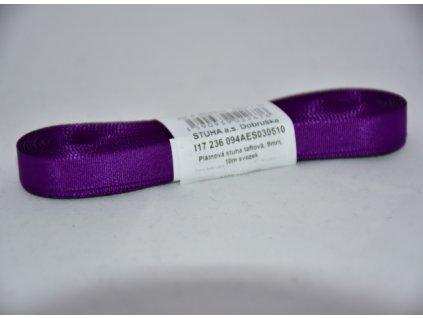 Stuha taftová 9mm 510 fialová
