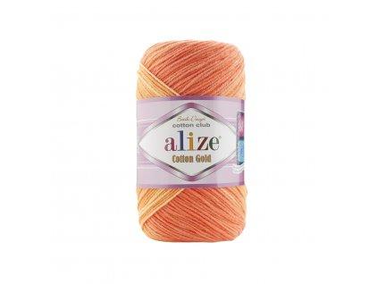 Alize Cotton gold batik 3299 modrý melír š.410240