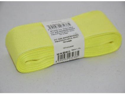 Stuha taftová 40mm 203 sv.žlutá