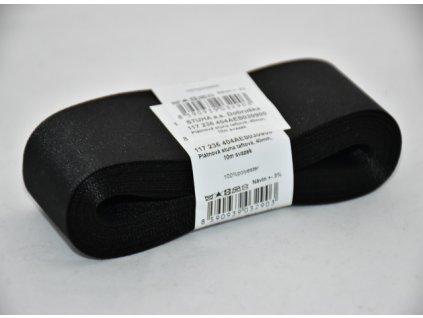 Stuha taftová 40mm 900 černá