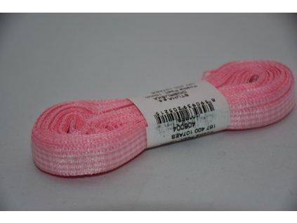 Stuha kostkovaná 10mm 004 sv.růžová