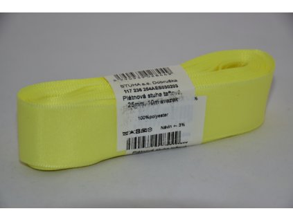 Stuha taftová 25mm 203 sv.žlutá