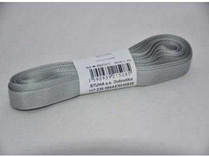 Stuha taftová 9mm 820 šedá
