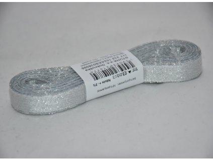 Stuha adjustační - torsade 10mm stříbrná