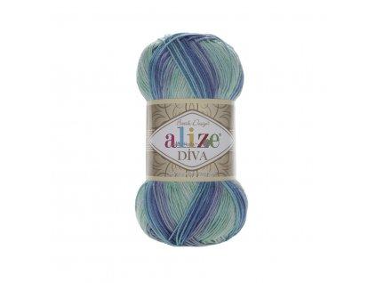 Příze Alize Diva batik 1767 tyrkysovo-modrá š. 415530